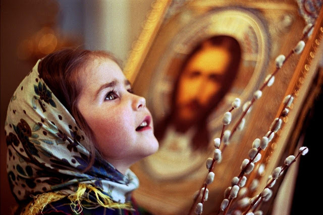 A child in church