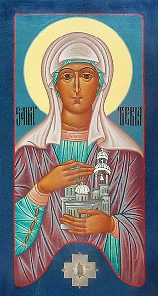 Icon of Saint Thekla, a patron saint in the Orthodox Church