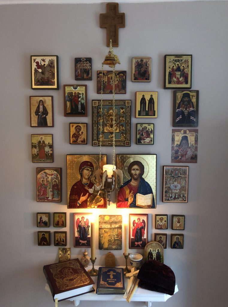 Example of an Orthodox prayer corner