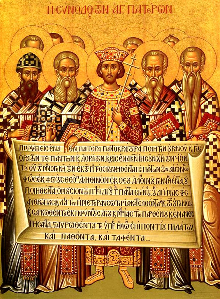 Icon of one of the Ecumenical Councils at Nicea