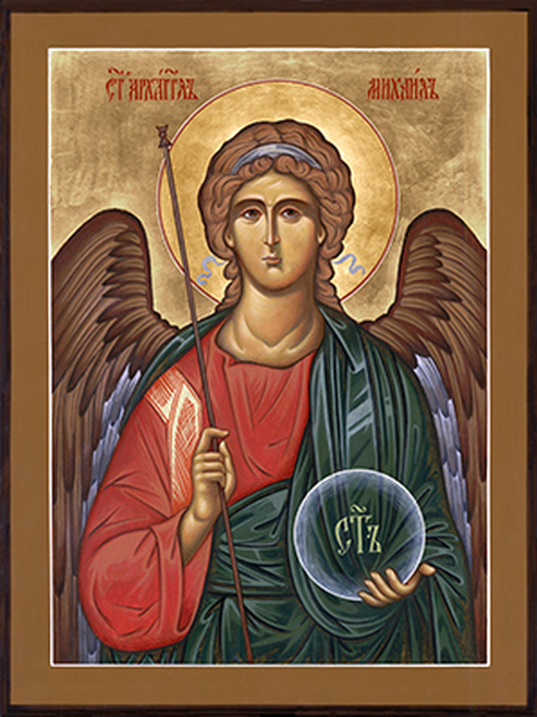 Orthodox icon of the Archangel Michael from Holy Trinity Icon Studio's online shop.