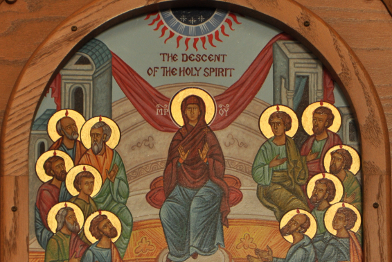 Icon of Disciples Receiving the Holy Spirit