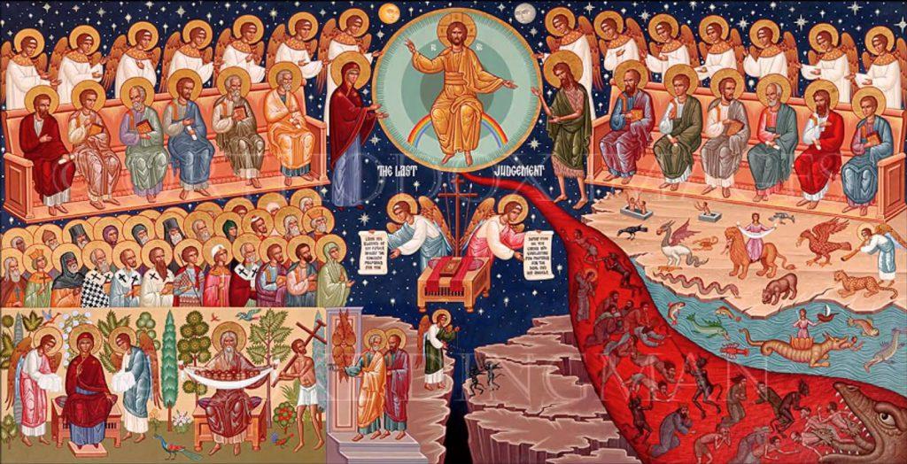 Orthodox icon of the Last Judgment