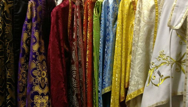 Orthodox vestments in many colors