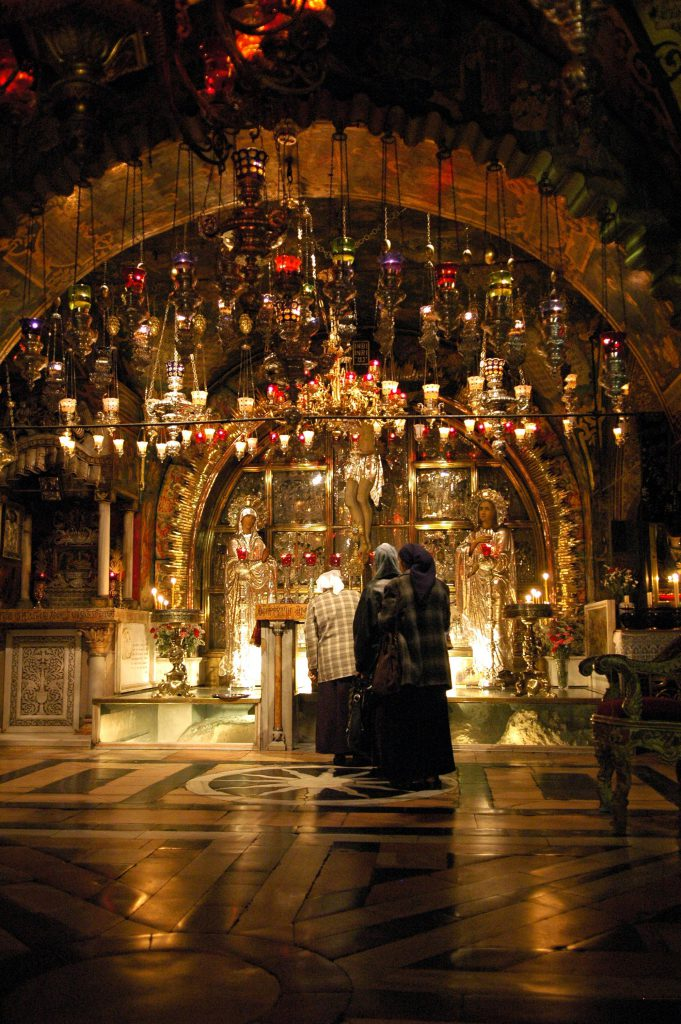 Altar at Calvary, where Christ was crucified on the Cross
