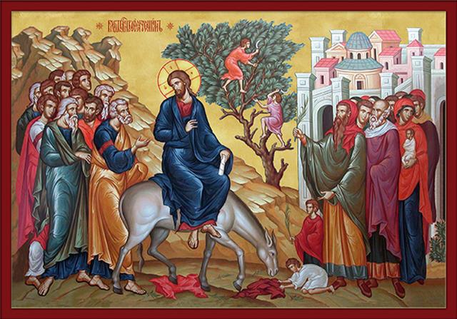 Orthodox icon of Palm Sunday