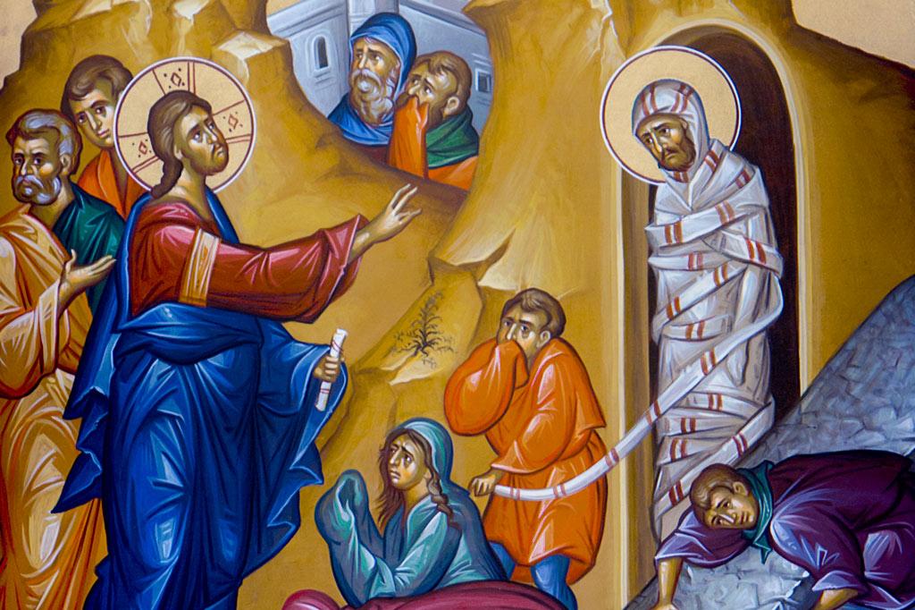 Icon of Christ raising Lazarus