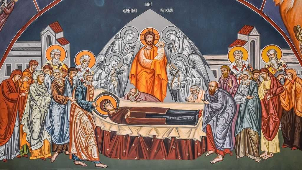 Icon of the Dormition of the Mother of God (Theotokos)